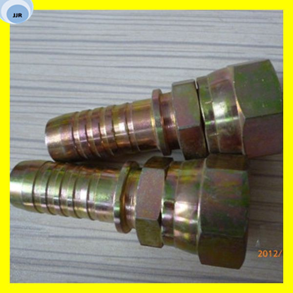 Metric Flare Fittings Coupling Fitting Hydraulic Straight Fitting