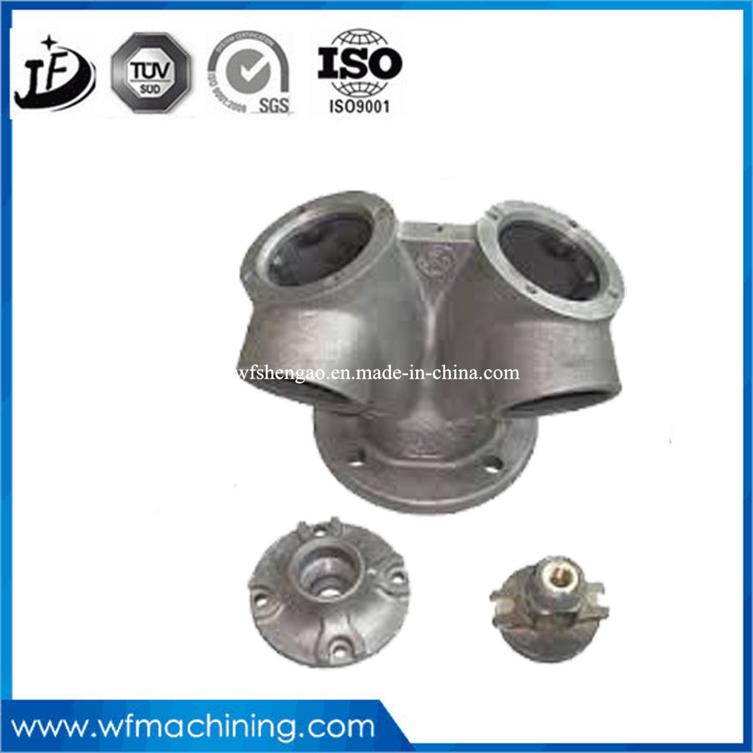 OEM Foundry Grey Iron & Ductile Iron Bend Elbow Tee Cross Iron Casting Pipe Fitting