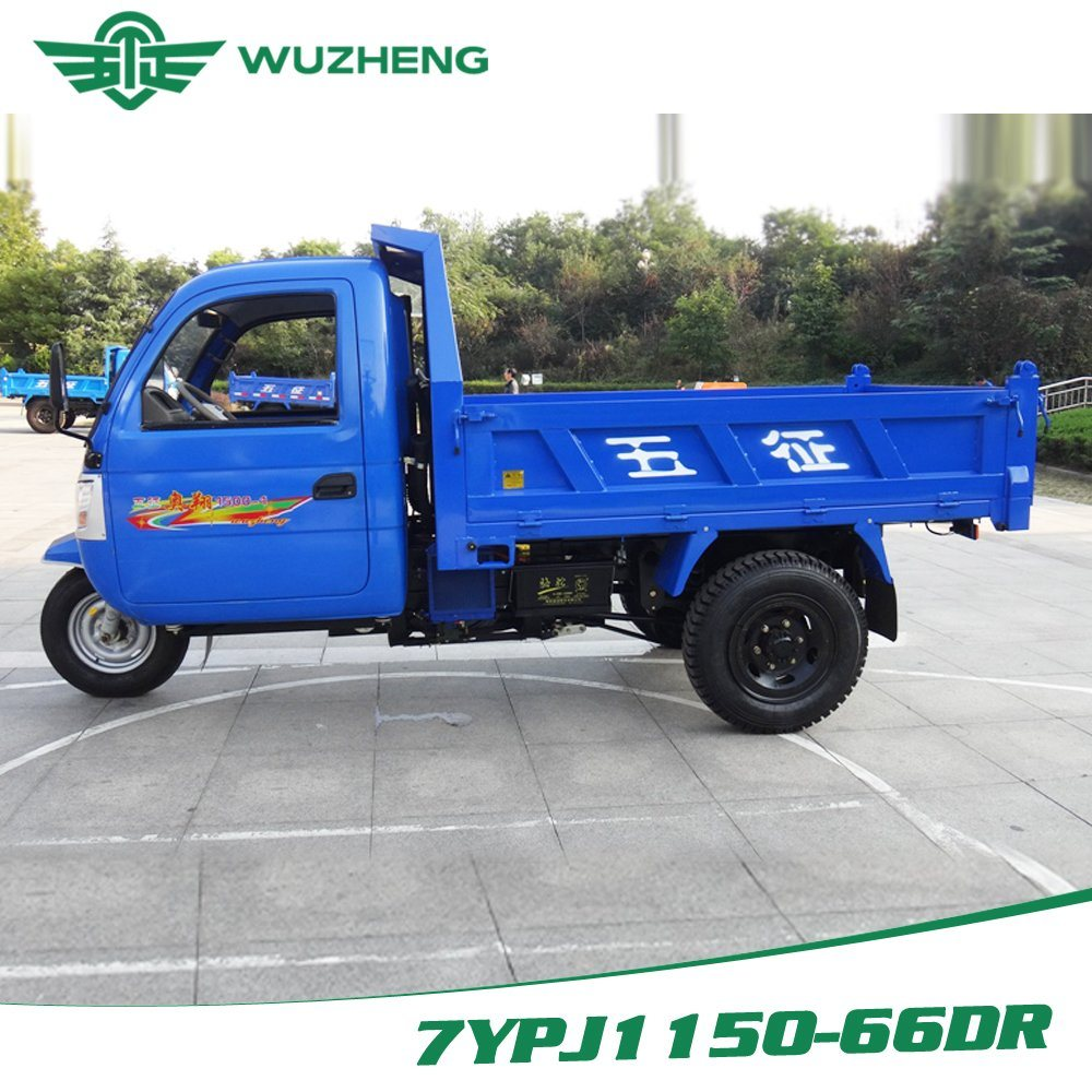 Waw Chinese Closed Cargo Diesel Motorized 3-Wheel Tricycle for Sale