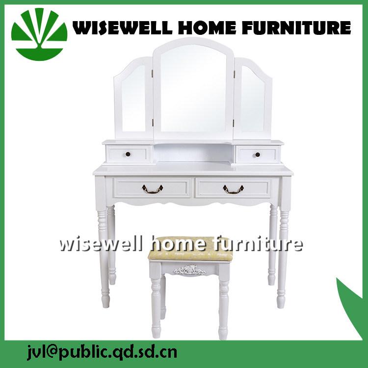 3 Fold Mirror Set Classic Shaker Dressing Table Furniture (W-HY-015)