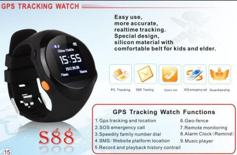 GPS Tracker Watch Phone Sos Calling Elder Smart Watch with Calling Function