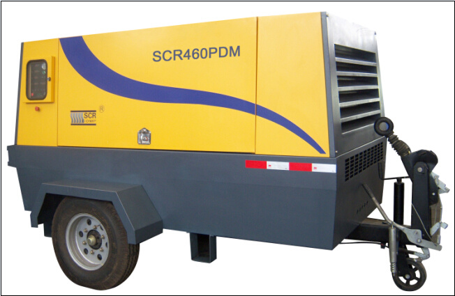 Diesel Engine Portable / Mobile Screw Air Compressor (SCR460PD)