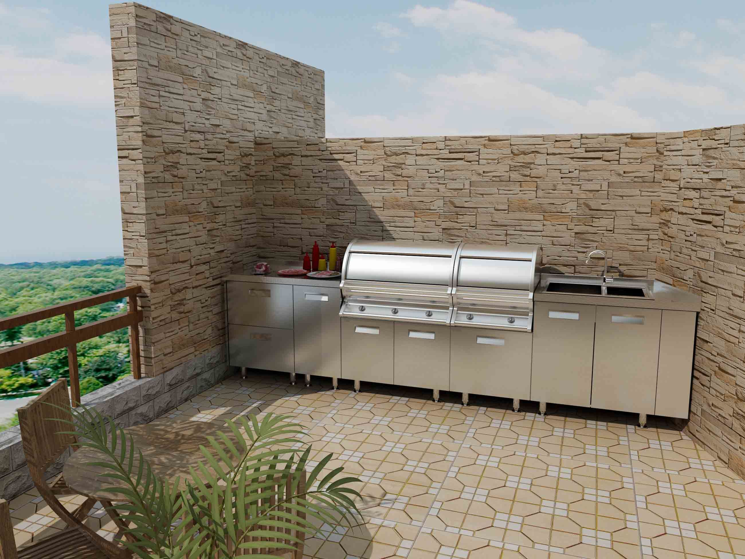 China Stainless Steel Barbecue Cabinets for Outdoor Furniture (BR ...