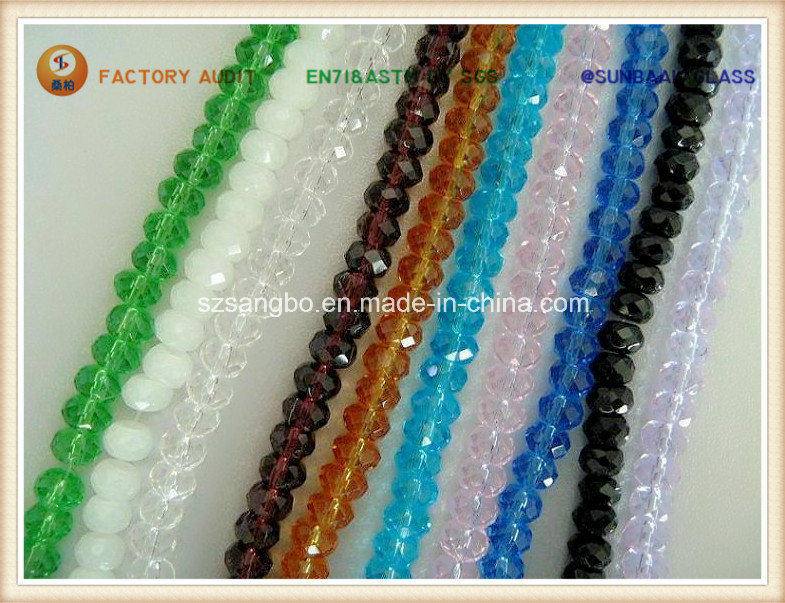 Crystal Bead/ Roundel Glass Bead /Faceted Bead