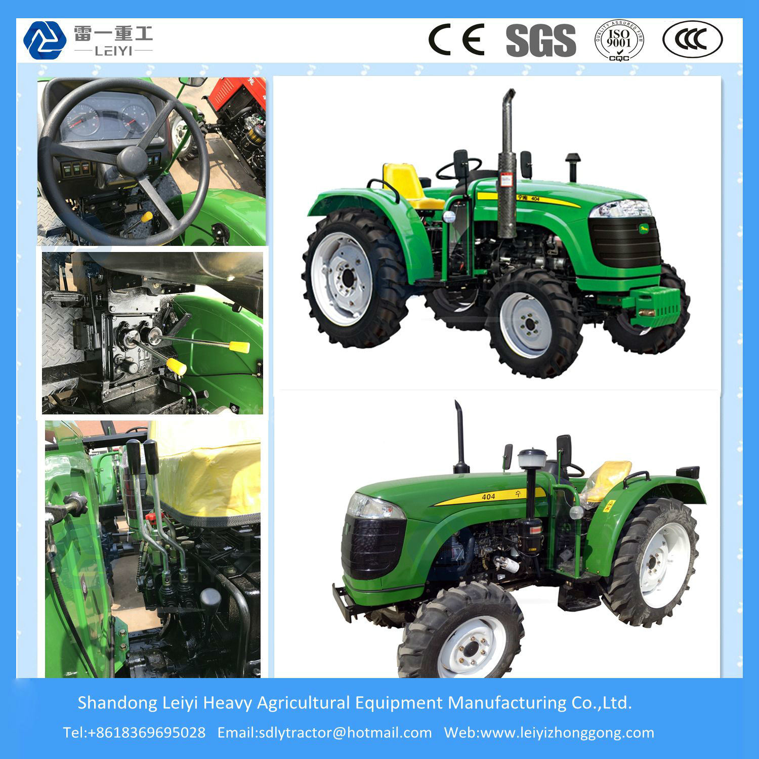 4WD Wheel Farming 40/48/55HP Mini/Agricultural/Compact/Small/Diesel Farm/Garden Tractor