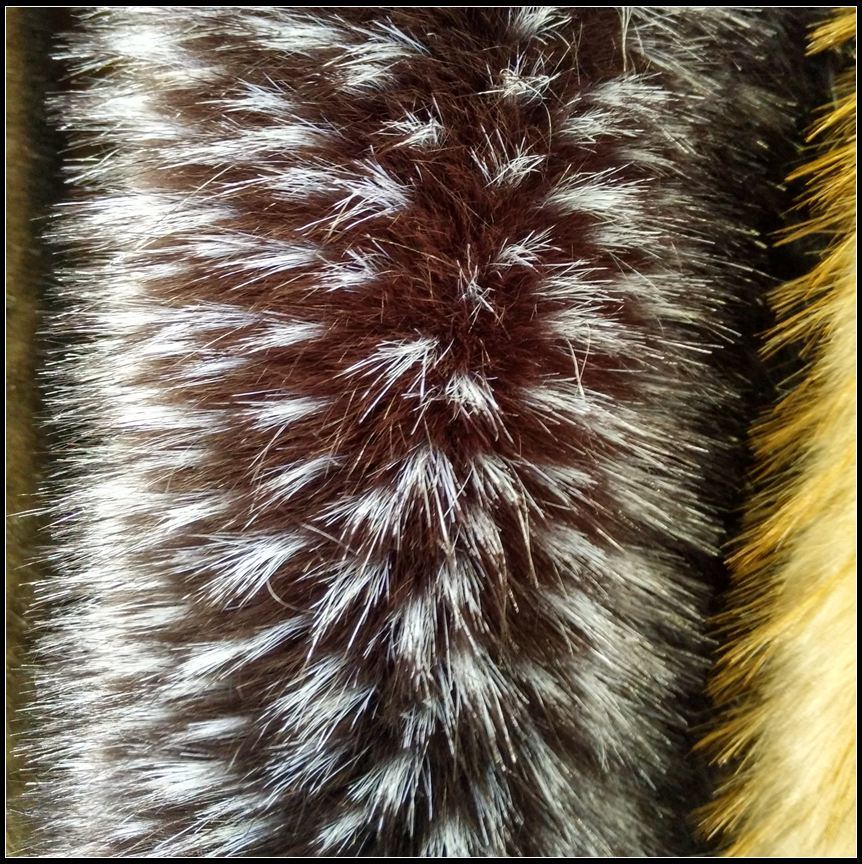 Long Pile Artificial Printed Fake Fur