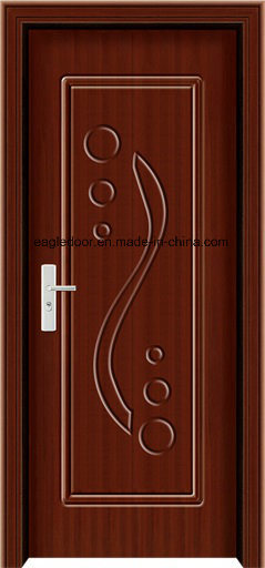 Economical Interior Wooden Rounded MDF PVC Door (EI-P082)