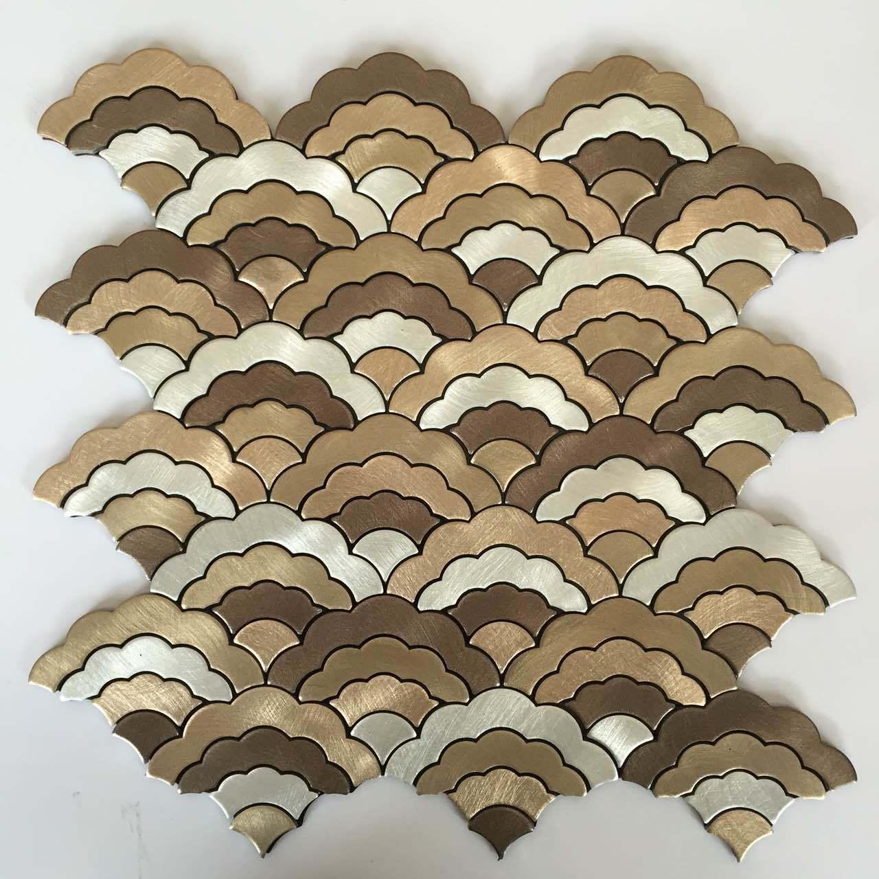 Aluminum Plastic Mosaic Floor Tiles for Sale
