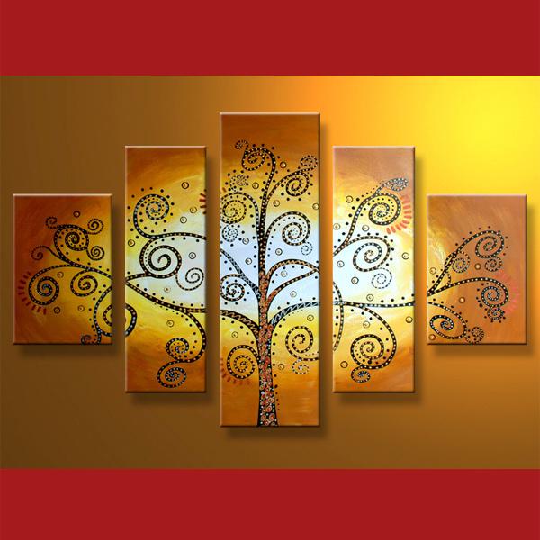 Pintura de arboles abstractos - Imagui