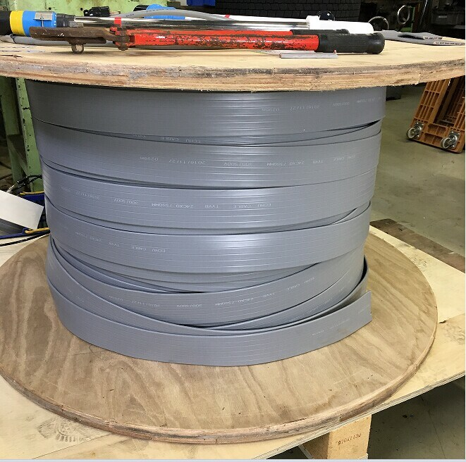Flat Elevator Cable 24cx0.75sqmm in Grey Color