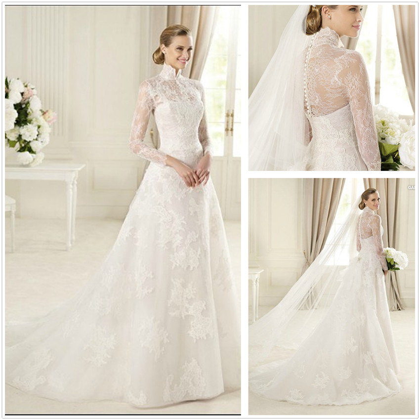 China long sleeve wedding gowns xz677 china wedding for Long wedding dresses with sleeves
