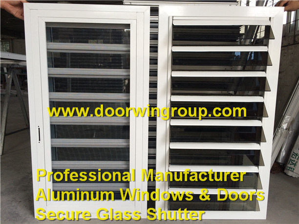 Caribbean Aluminium Louver Window 6mm Gray Tempered Glass