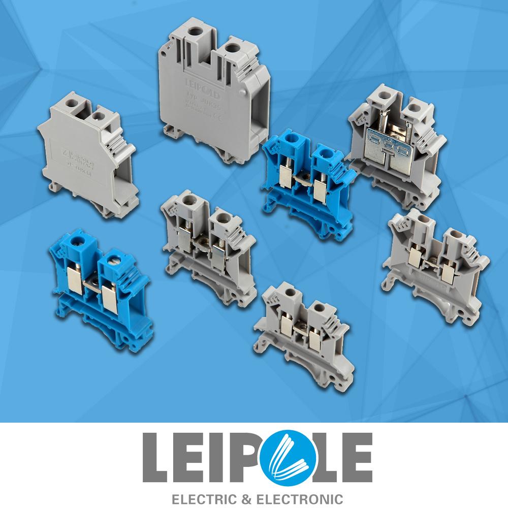 Juk5n Screw Type 0.2~4mm2 Terminal Block Wiring Connector