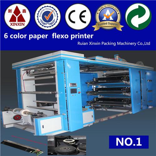 6 Color Paper Flexographic Printing Machine
