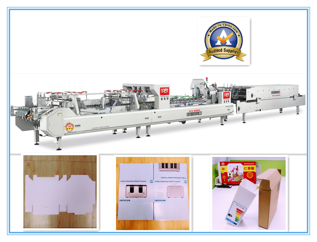 Xcs-800PF Efficiency Printing Paper Box Folder Gluer