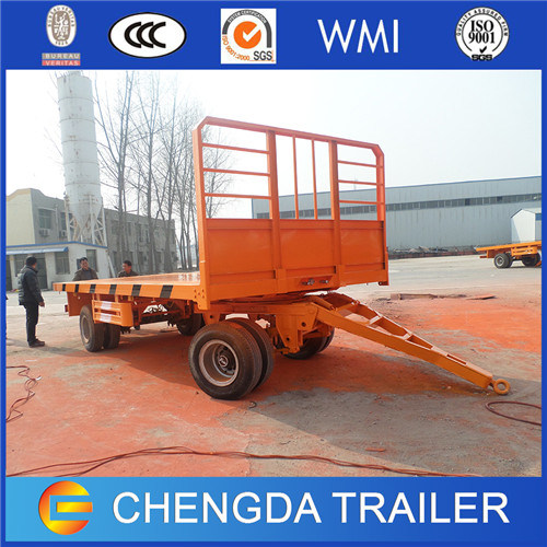3 Axles Turntable Full Trailer with High Fence for Ethiopia