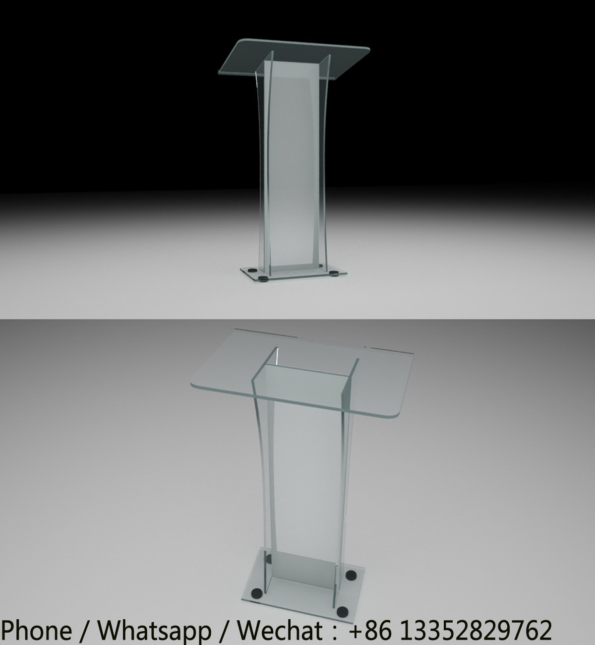 Hand Made Clear Acrylic Lecture Table