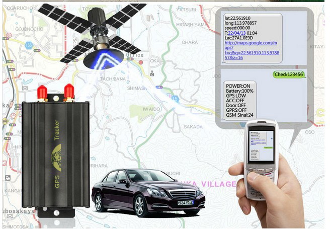 GPS Vehicle Tracking Device Tk103 with Ios APP and Andriod APP