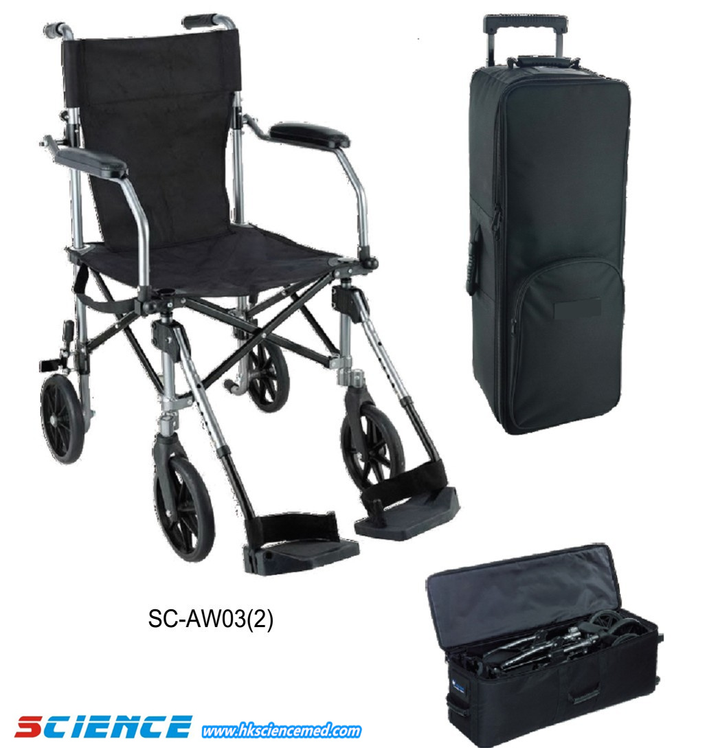 Light Folding Wheelchair with Traveling Case Sc-Aw03 (2)