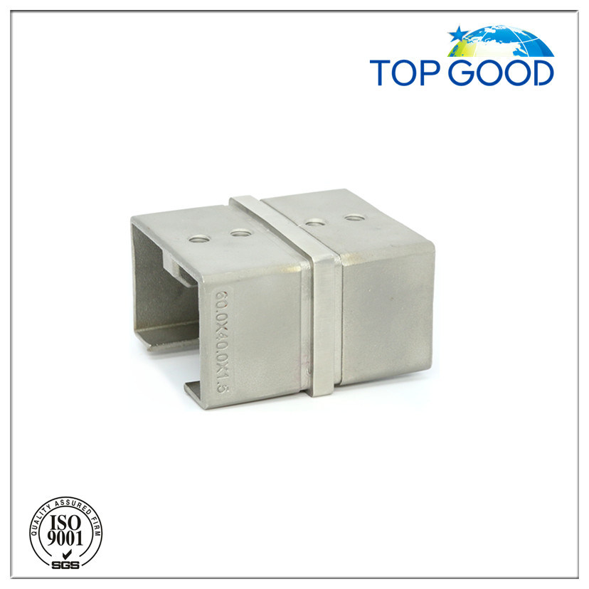 Stainless Steel Corner Horizontal Slot Tube Connector (53160)