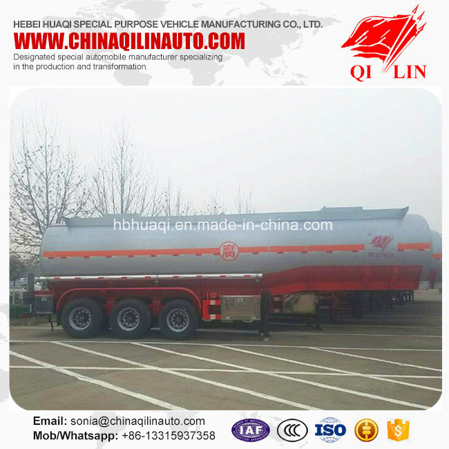 Stainless Steel Corrosive Liquid Transport Tanker Semi Trailer