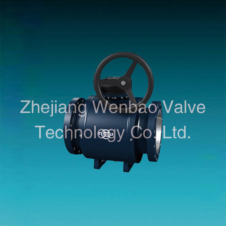 China Factory St. 37 Trunnion Mounted Full Welded Ball Valve Wenzhou Manufacturer