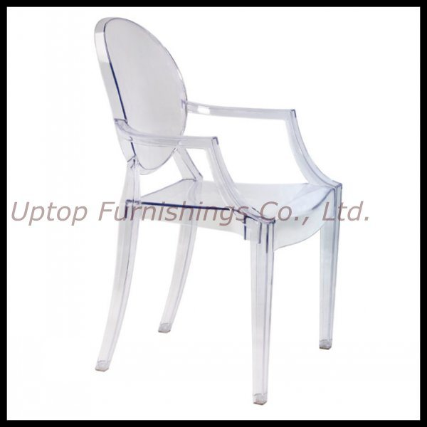 Louis Xv Ghost Chair, Plastic Coffee Chair, Popular PC Chair, Arm Dining Chair, Wedding Chair (SP-AC124)