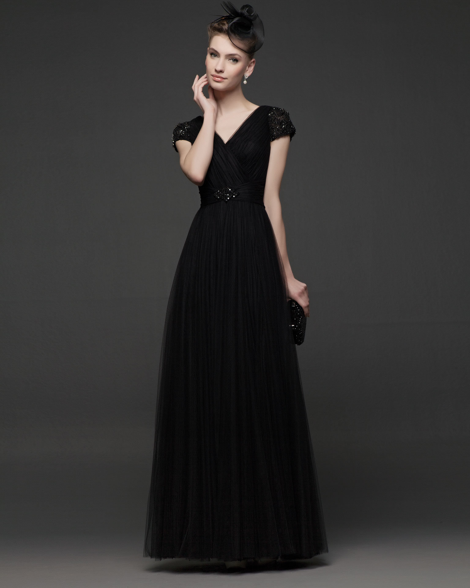 Download image Simple Long Black Dress PC, Android, iPhone and iPad ...