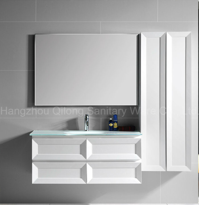 2017 New PVC Wall-Mounted Cabinet for Bathroom with Side Cabinet