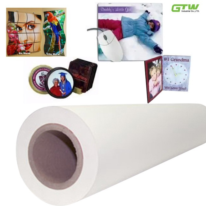 "57""Anti-Curl Fast Dry Sublimation Paper for Textiles 70GSM"