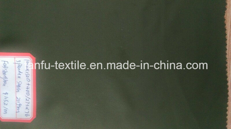 100% Polyester Spandex Satin Fabric
