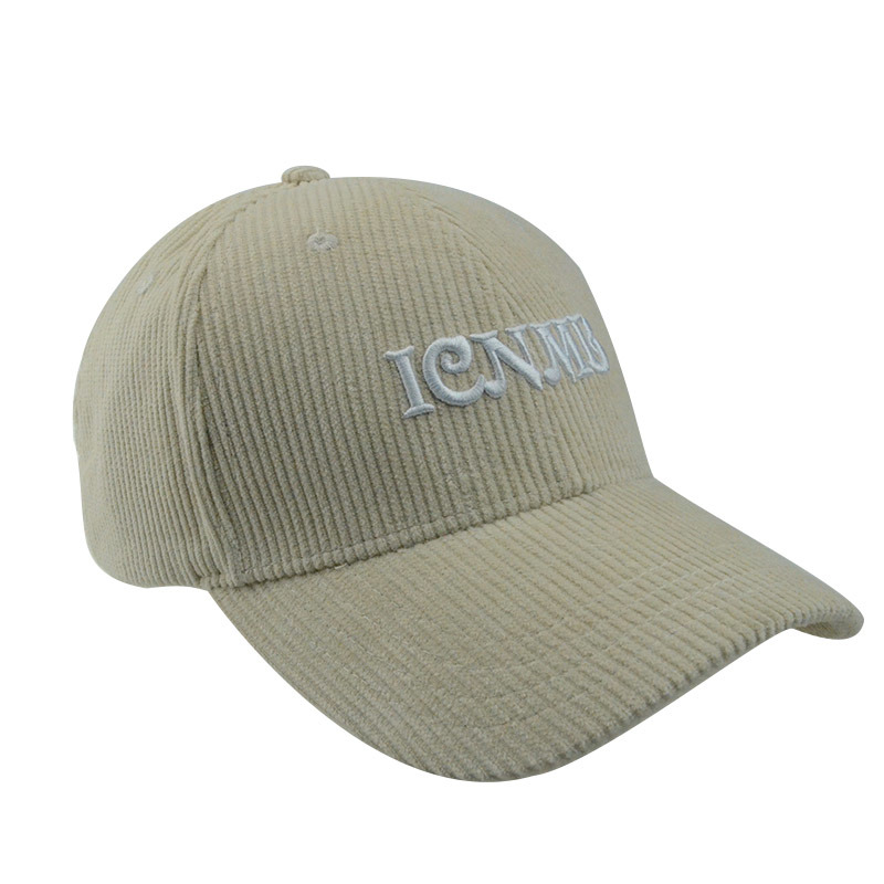 Custom Various Colour 6 Panels Corduroy Hat Baseball Cap