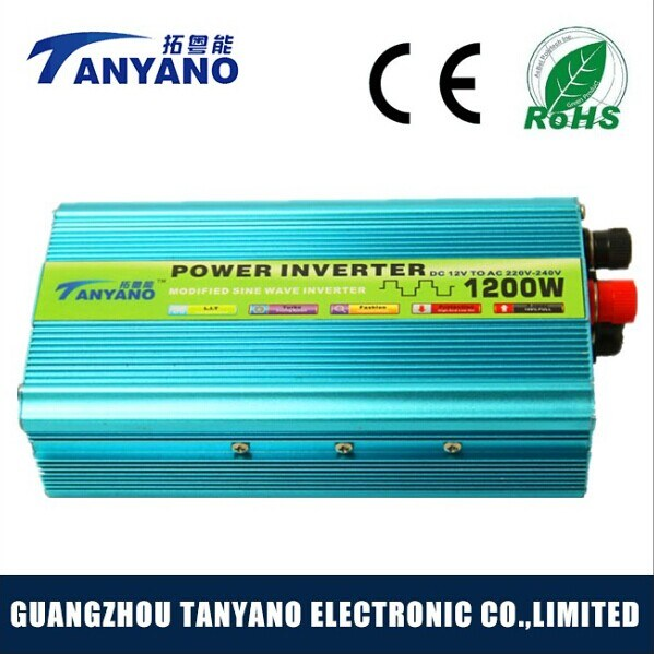 1200W Car Modified Solar Power Inverter with Reverse Polarity Protection