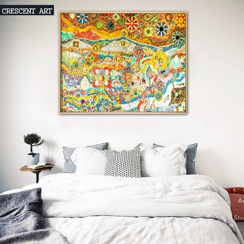 Abstract Colorful Oil Painting for Decor