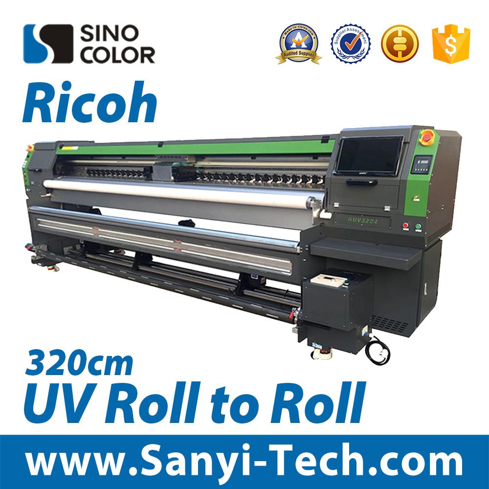 Wide Format Printer Digital Printing Machine UV Printer Sinocolor Ruv-3204 Large Format Printer UV Roll to Roll Printer Digital Printer