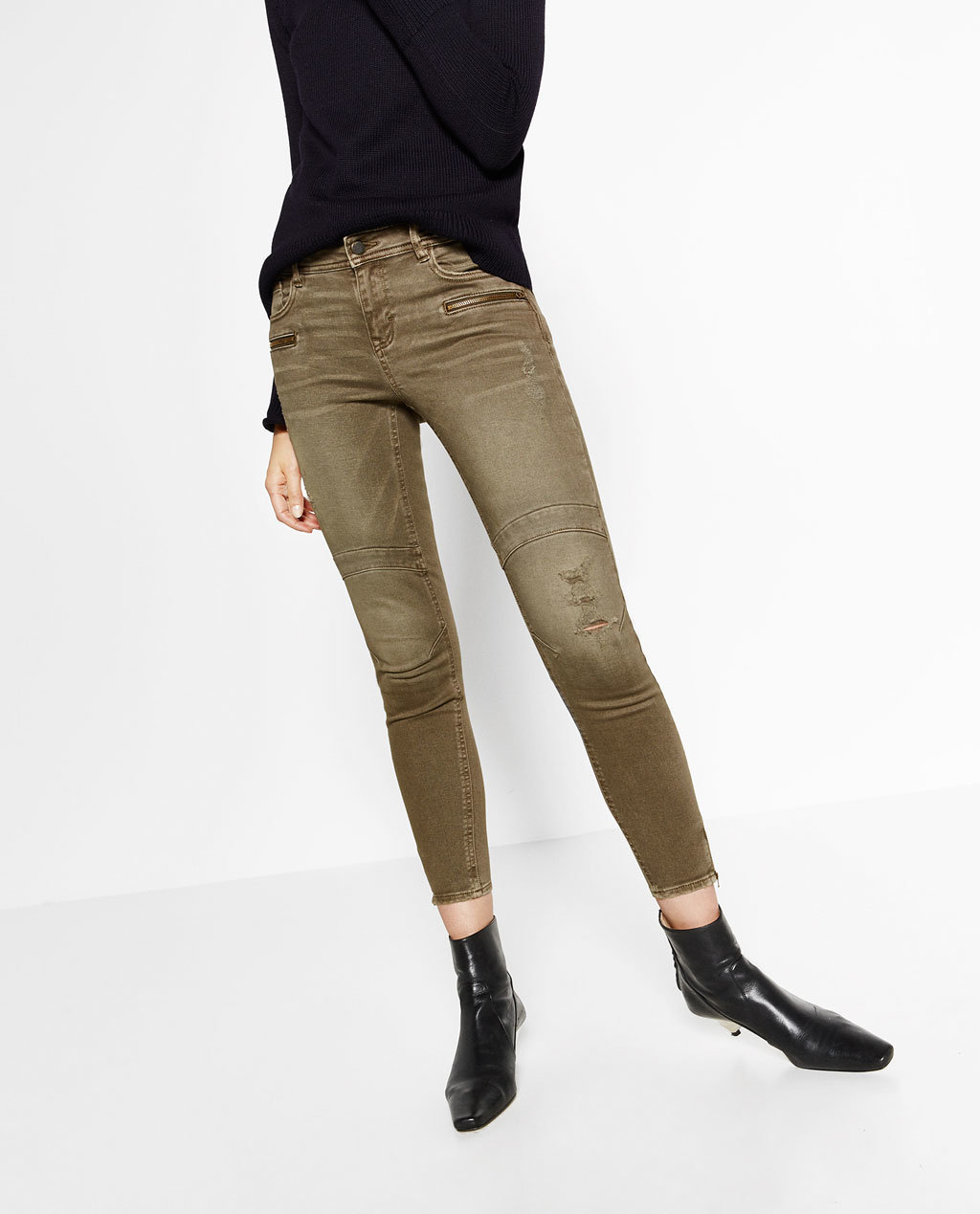 Fashioned Women Skinny Pant with Zipper