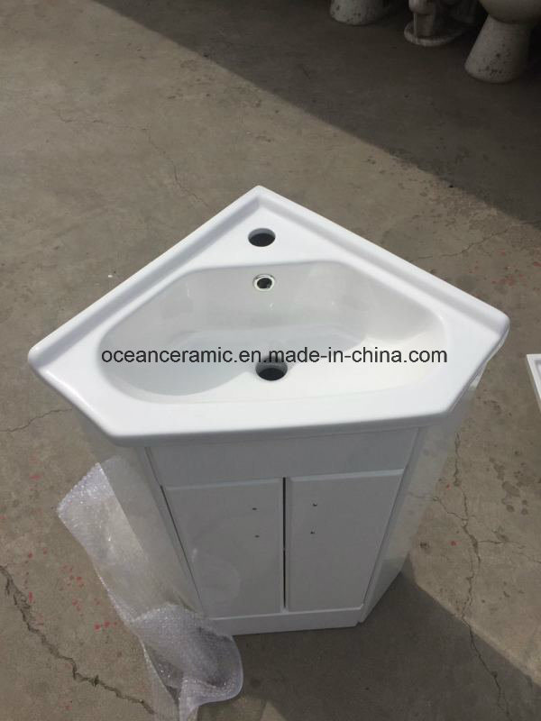 9068W Bathroom Furniture, Sanitary Ware, Cheap Wall Hung Corner PVC Bathroom Cabinet