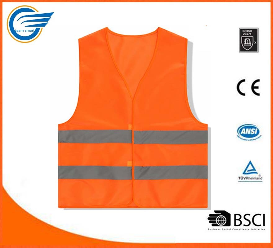 2017 Hot Selling High Visibility Reflective Vest Work Wear Vest