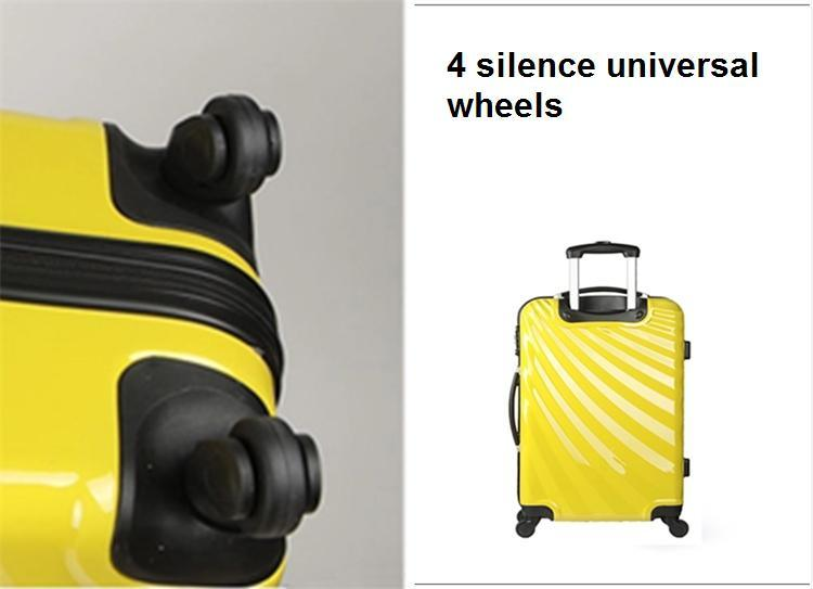 20/24/28 ABS+PC Luggage with Zipper Style Shell Shape