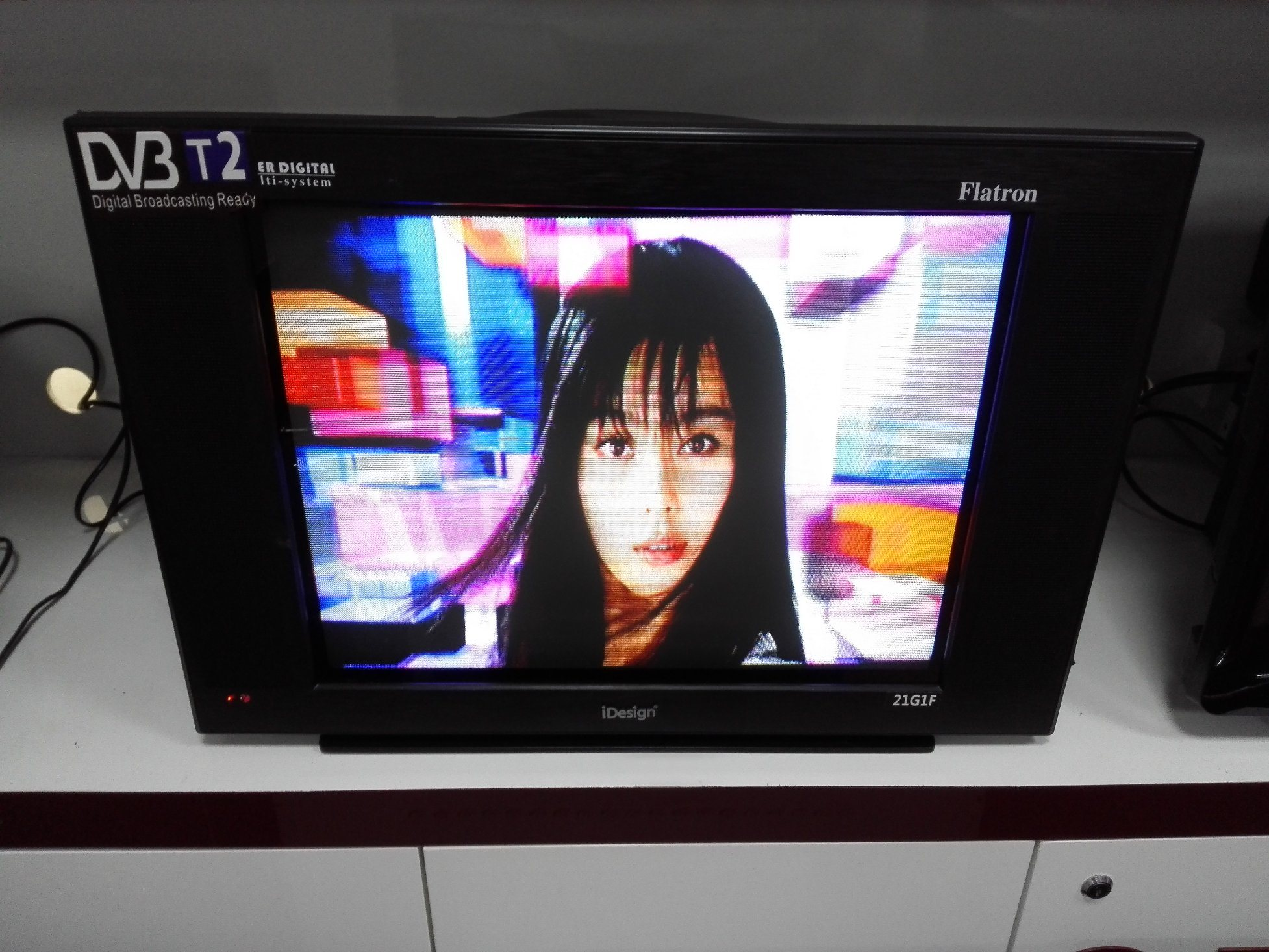 "21"" Digital Color TV with DVB-T2"