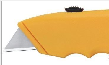 Heavy Duty Utility Knife Zinc-Alloy Material Plastic Handle Material