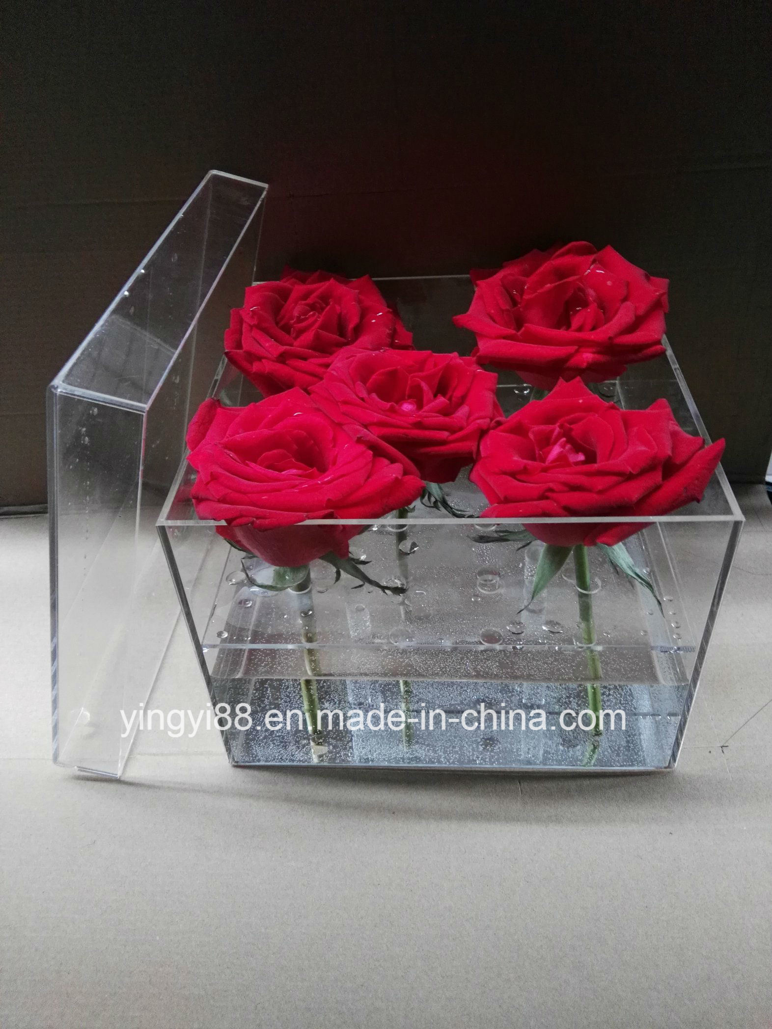 Factory Manufacturer Clear Acrylic Flower Box/ Acrylic Rose Box