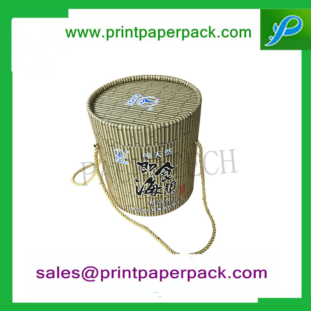Custom Luxury Flower / Wine / Candy / Cake / Cosmetic / Candle / Perfume Jewelry Ribbon Packaging Round Hat Tube Paper Gift Packing Cardboard Box