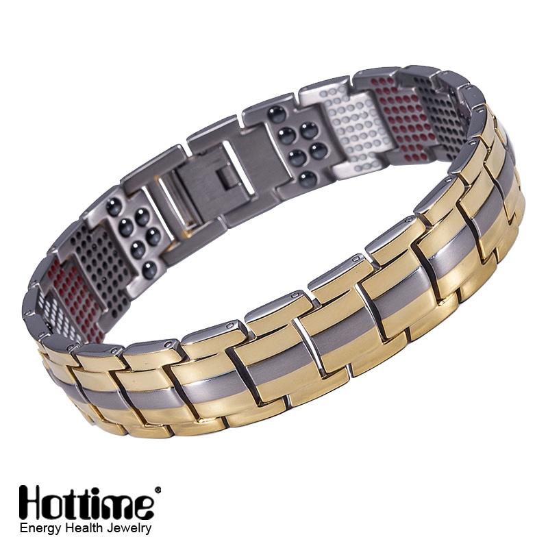 Hottime 591PCS Health Element Titanium Bracelet for Unisex (10093)