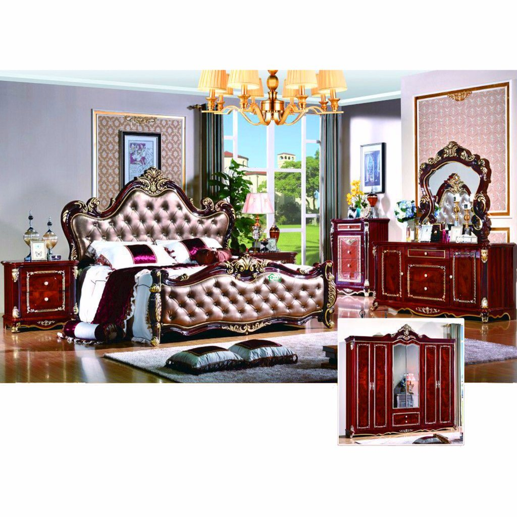 Bedroom Bed for Classic Bedroom Furniture Sets (W816)