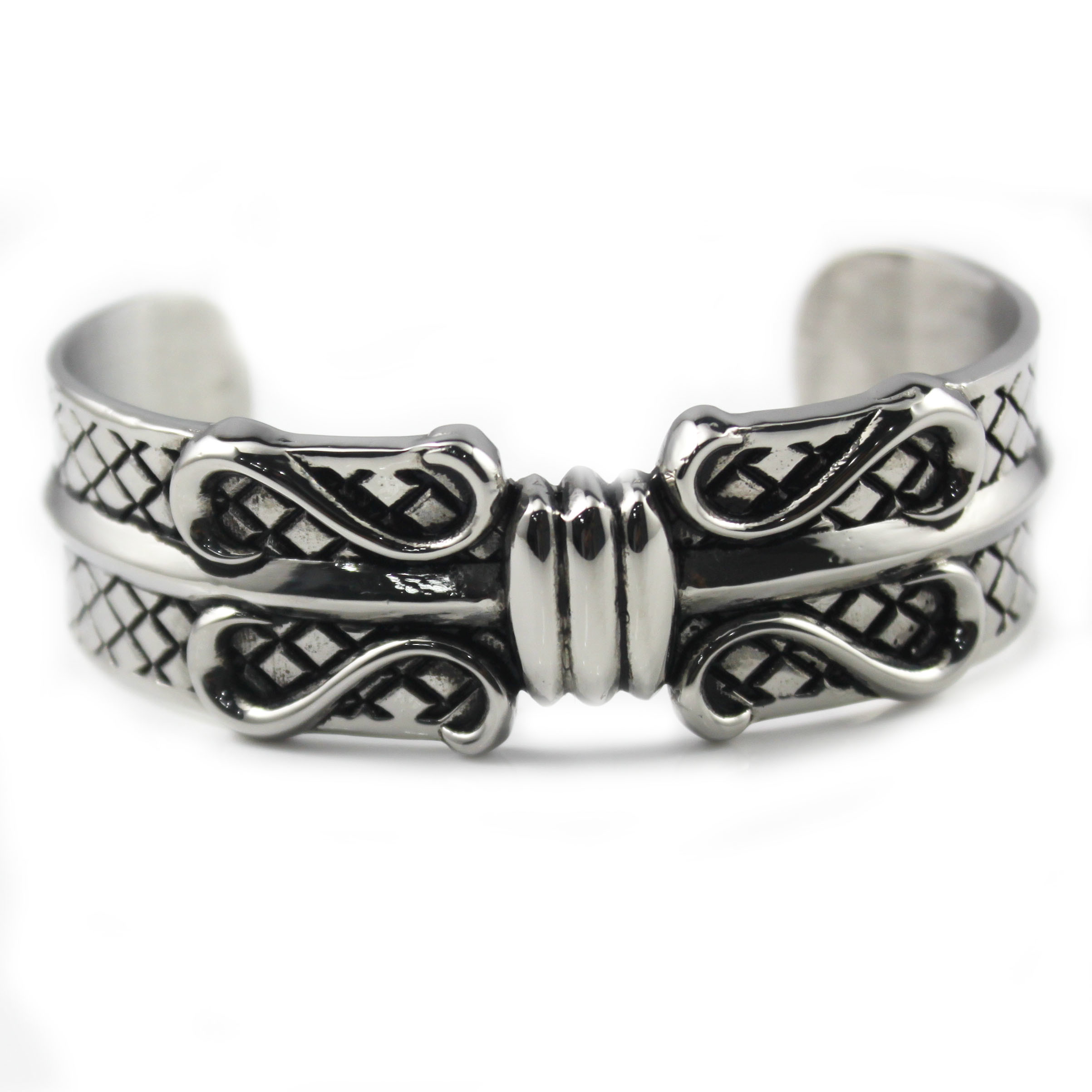 Most Popular Excellent Quality China Sale Retro Bangles with Stainless Steel Bracelet