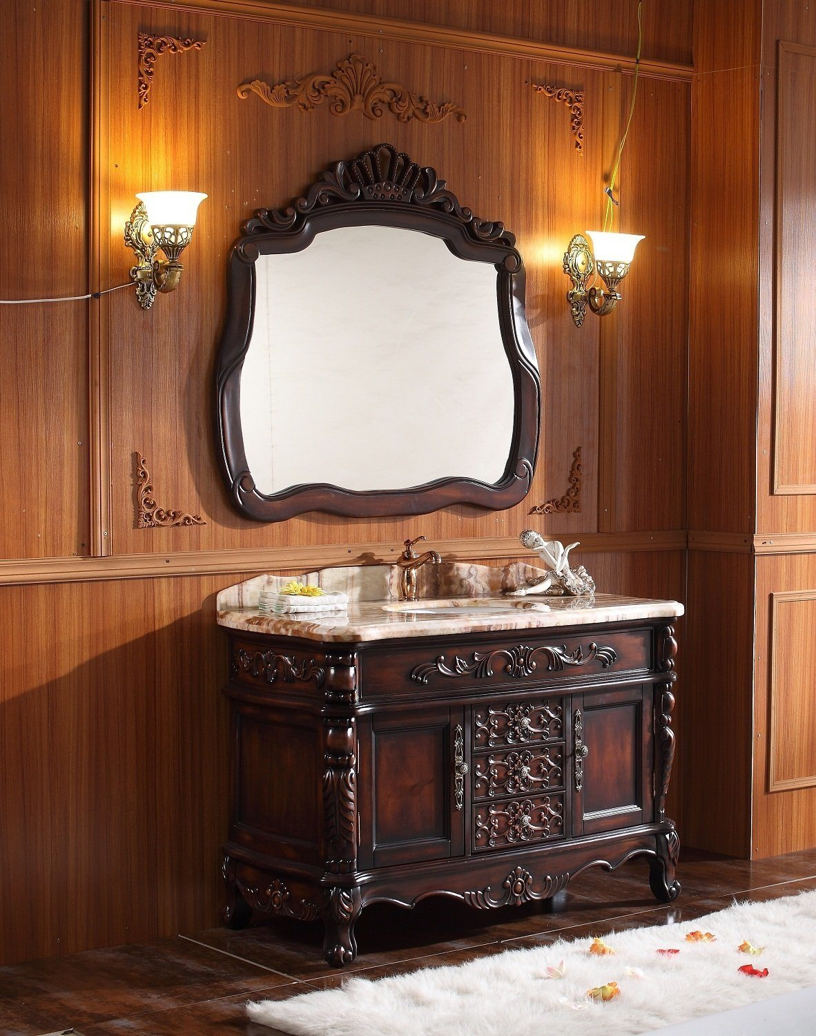 Sanitary Ware Bathroom Cabinet with European Archaize Series (6109)