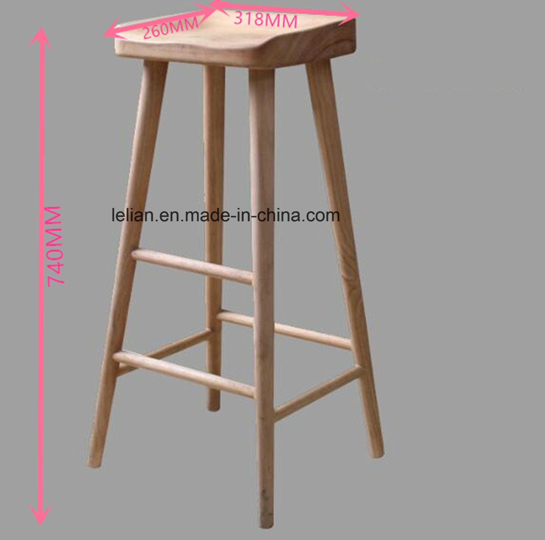 Commercial Oak Wood Bar Stool for Bar Furniture (LL-BC060)