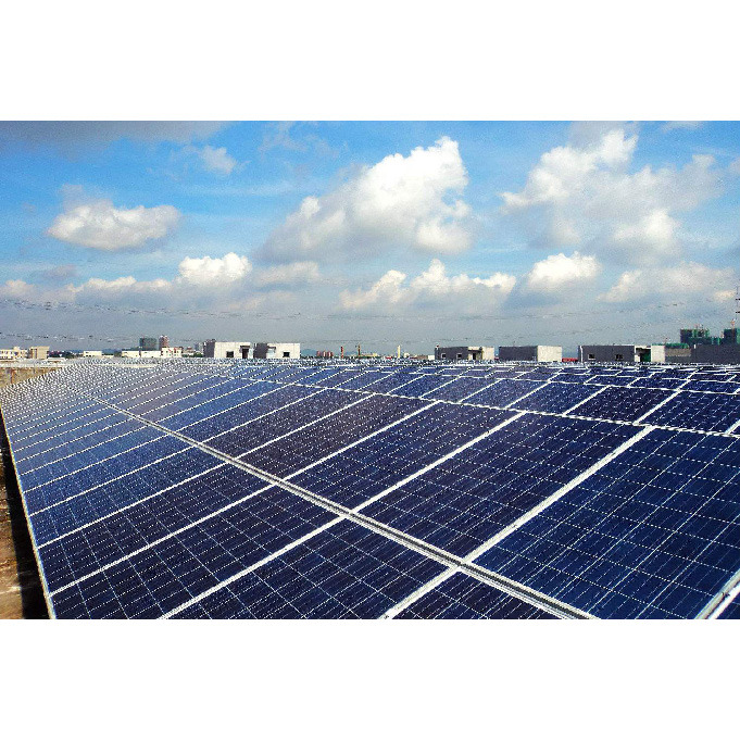 Haochang Brand Solar Home System Mounted on Tilted Rooftop Serving Power to House