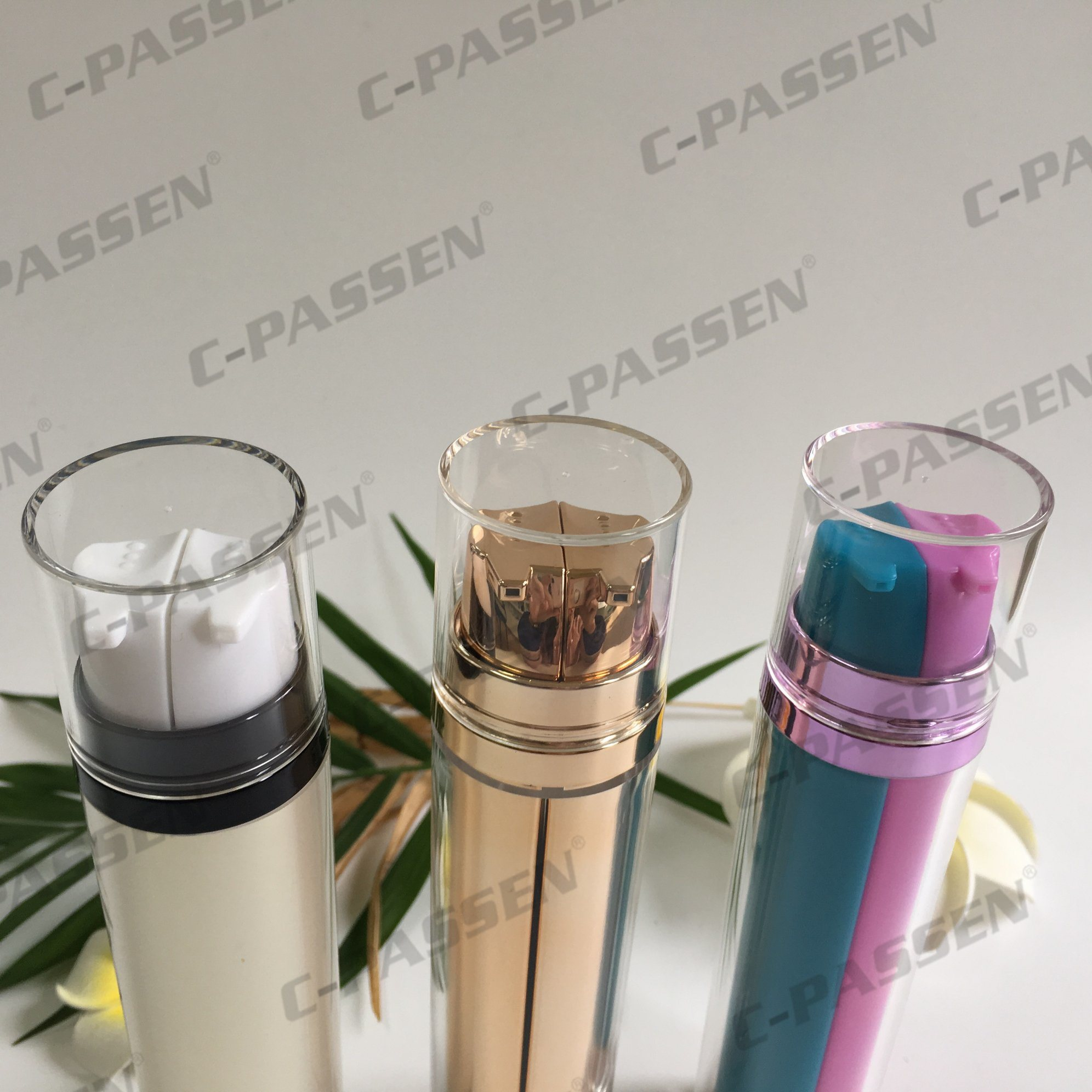 Double Pump Acrylic Airless Bottle for Cosmetic Packaging (PPC-AAB-041)